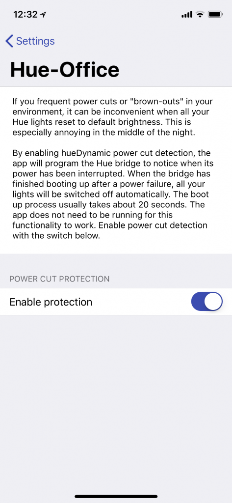 Philips Hue Lights Power Cut Detection • hueDynamic for